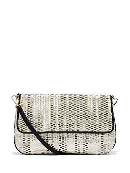 Woven Clutch Handbag - New York & Company