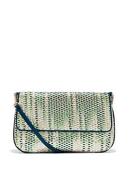 Woven Clutch Handbag - New York & Company
