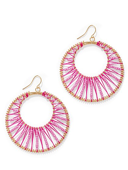 Woven Hoop Drop Earring  - New York & Company
