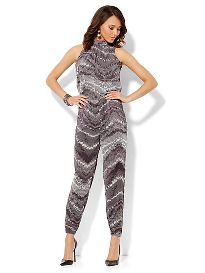 Wrap-Back Jumpsuit - New York & Company
