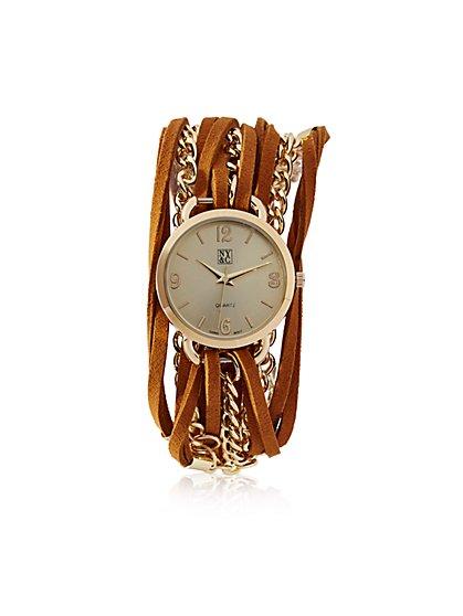 Wrap Bracelet Watch   - New York & Company