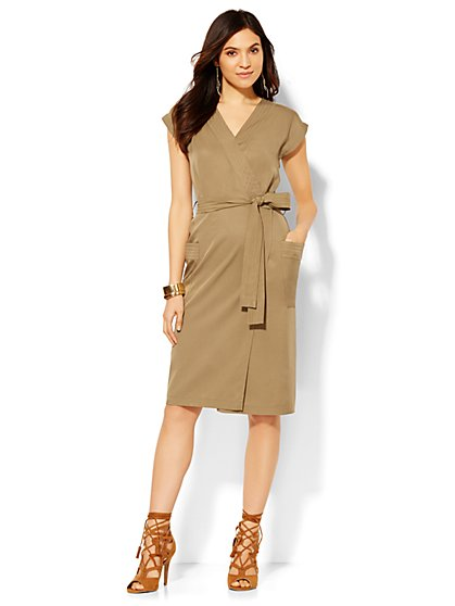 Wrap Dress - Union Square Green  - New York & Company