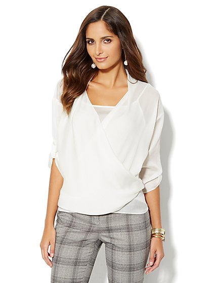 Wrap-Front Blouse - New York & Company