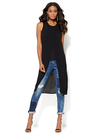 Wrap Front Extreme Tunic - New York & Company