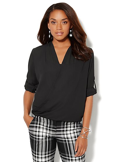Wrap Hi-Lo Blouse - New York & Company
