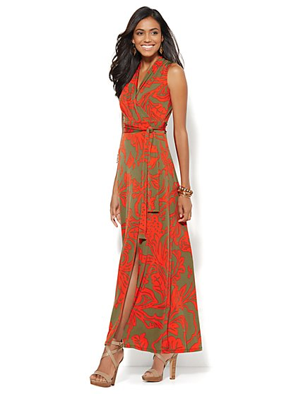 Wrap Maxi Dress - Tropical  Floral - New York & Company