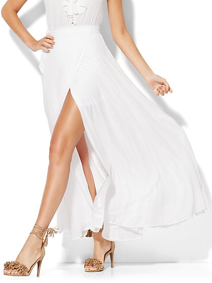 Wrap Maxi Skirt - Paper White  - New York & Company