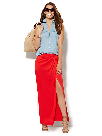 Wrap Maxi Skirt - Solid  - New York & Company