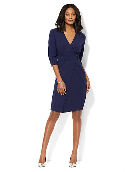 Wrap Shirtdress - Solid  - New York & Company