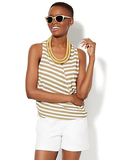 Wrap Sleeveless Blouse  - New York & Company
