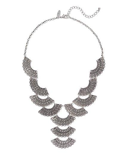 Y-Shape Fan Necklace  - New York & Company