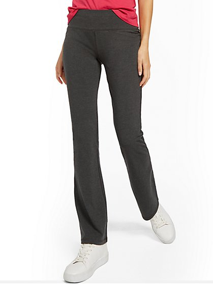 Yoga - Bootcut Pant - Graphite Heather Grey - New York & Company