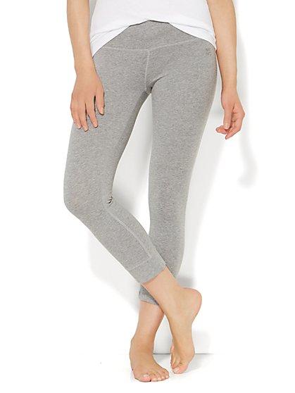 Yoga Crop Legging - Heathered  - New York & Company