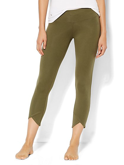 Yoga Tulip-Hem Legging - Moss  - New York & Company