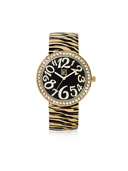 Zebra-Print Stretch Watch - New York & Company