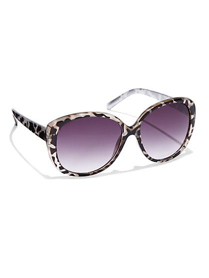 Zebra-Print Sunglasses
