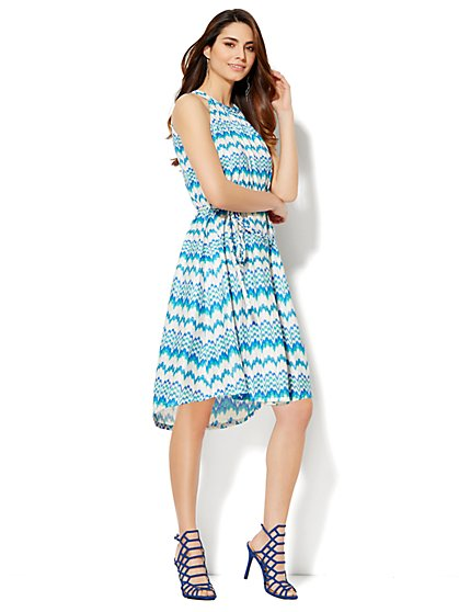Zigzag Halter Dress  - New York & Company