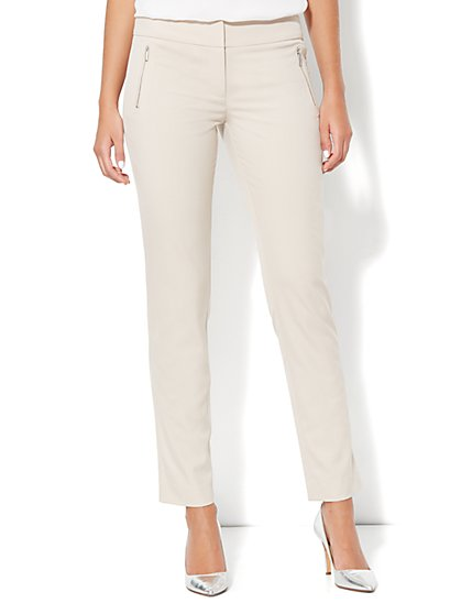Zip-Front Ankle Pant