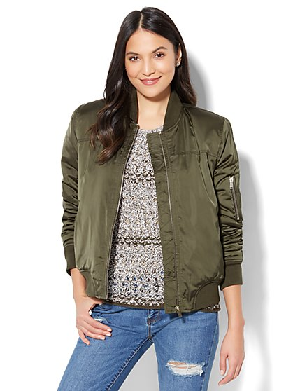 Zip-Front Bomber Jacket - New York & Company