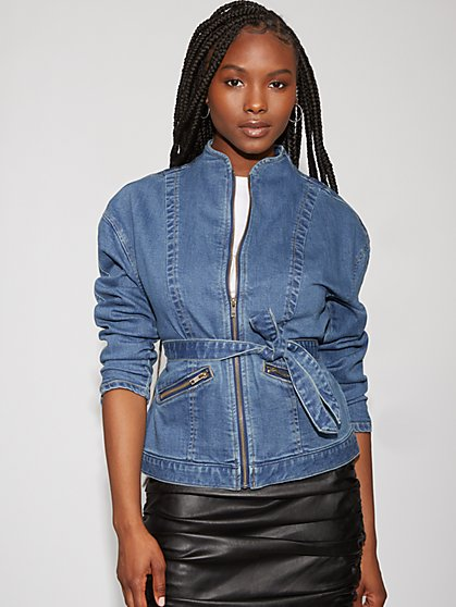 Zip-Front Denim Jacket - Gabrielle Union Collection - New York & Company