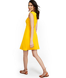Deals List: NY Deal Button-back Fit And Flare Dress City Knits