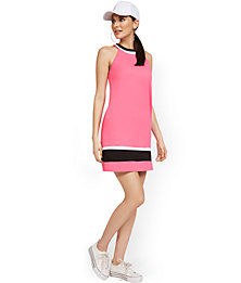 Deals on New York & Company Colorblock Halter Shift Dress
