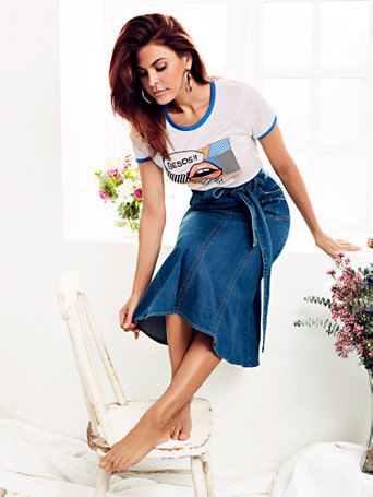 """Besos"" Graphic Tee   Eva Mendes Collection by New York & Company"
