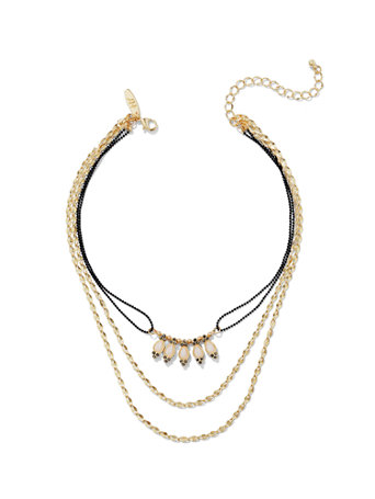 3-Row Choker Necklace
