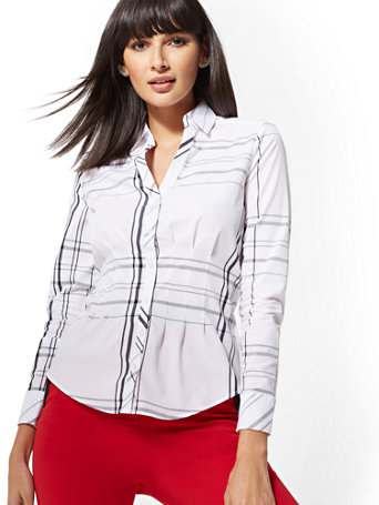 7e4b0f230f9 7th-avenue---metallic-plaid-madison-stretch-shirt by