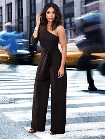 7th Avenue - One-Shoulder Jumpsuit - Petite