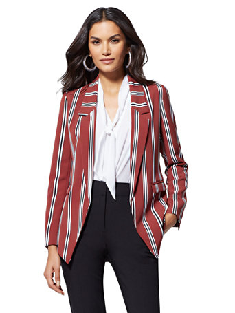 7th Avenue   Soft Stripe Madie Blazer by New York & Company