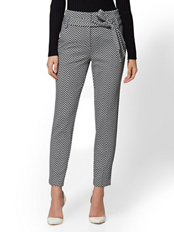 7th Avenue   Tall Black Chevron The Madie Pant by New York & Company