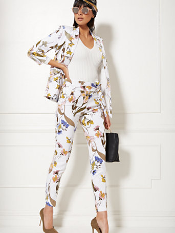 7th Avenue   Tall Madie Pant   Floral by New York & Company