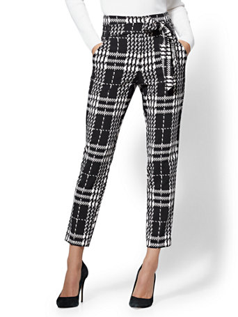 7th Avenue   The Madie Pant   Plaid by New York & Company