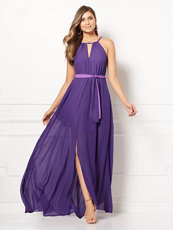 22287d607b1 NY C  Antonia Halter Maxi Dress - Eva Mendes Collection