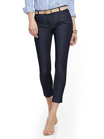 NY&Co Women's Audrey Ankle Pants - Navy Blue