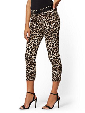 59bbad9d405b NY&C: Audrey Slim Leg Ankle Pant - Leopard Print