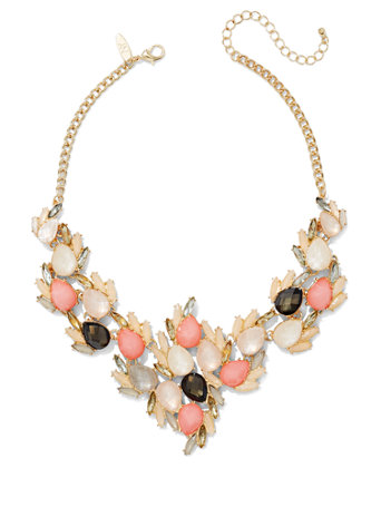 Beaded Cluster Bib Necklace