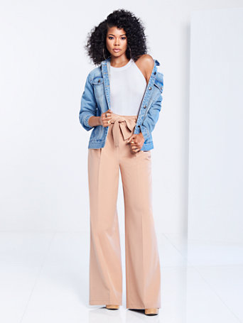 1501703c4ca NY C  Belted Wide-Leg Pant - Gabrielle Union Collection