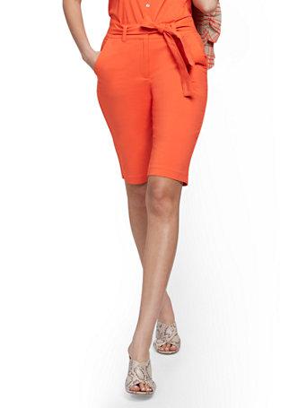NY&Co Women's Bermuda Short - Modern - 7th Avenue Burnt Orange