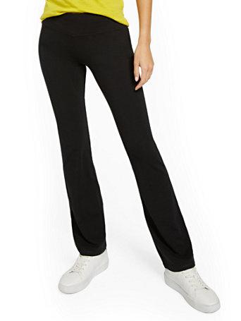NY&Co Women's Bootcut Yoga Pants Black