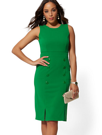 003ceedcdca button-accent-sheath-dress---magic-crepe by new-