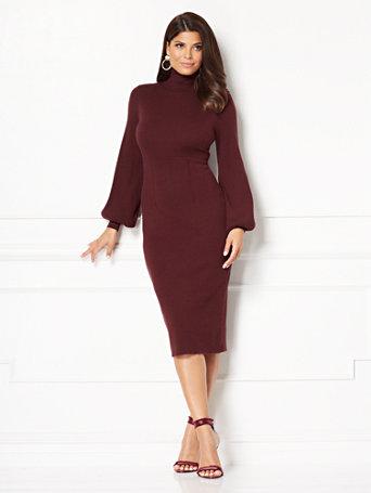 db3f7040b13 NY C  Catrina Sweater Dress - Eva Mendes Collection