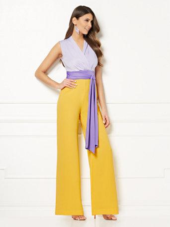 b980785578cc NY C  Chalina Colorblock Jumpsuit - Eva Mendes Collection