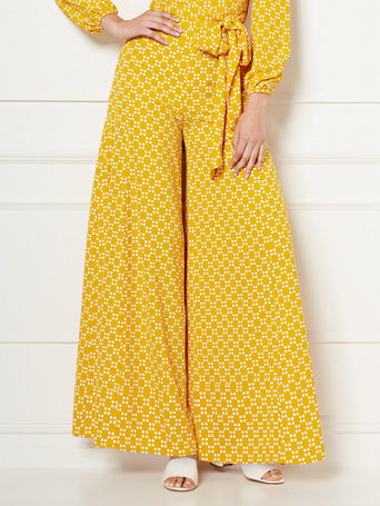 NY&Co Women's Charlotte Palazzo Pants - Eva Mendes Collection Golden Seal