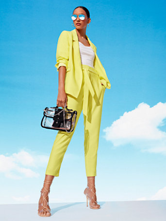 ca42023e8 Shoptagr | Chartreuse Madie Belted Blazer 7th Avenue by New York ...