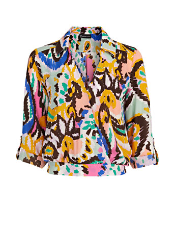 Collar V Neck Top The NY C Legacy Collection 09231040 855