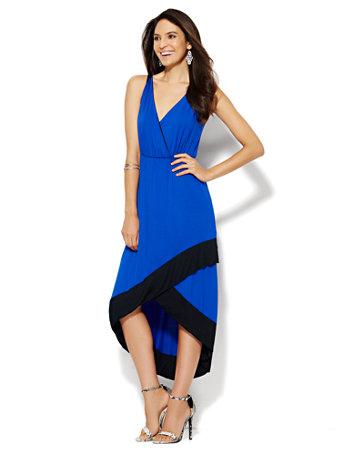 Colorblock Hi-Lo Dress