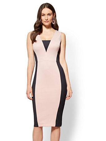 8d837123 NY&C: Colorblock Sheath Dress