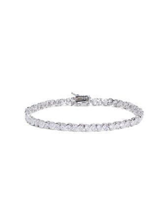 Cubic Zirconia Silvertone Bracelet by New York & Company